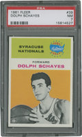 Basketball Cards:Singles (Pre-1970), 1961 Fleer Dolph Schayes #39 PSA NM 7....