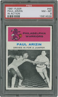 Basketball Cards:Singles (Pre-1970), 1961 Fleer Paul Arizin IA #45 PSA NM-MT 8....