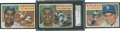 Baseball Cards:Lots, 1956 Topps Baseball Collection (7) With Jackie Robinson....