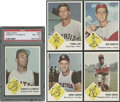 Baseball Cards:Lots, 1963 Fleer Baseball Group of (5) - With NM-MT 8 Clemente!...