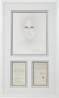 Music Memorabilia:Autographs and Signed Items, Beatles Related - John Lennon Signed Contract Display....