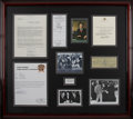 Movie/TV Memorabilia:Autographs and Signed Items, Jack Ruby Original Arrest Report with Signed Items Display....