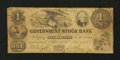 Obsoletes By State:Michigan, Ann Arbor, MI- Government Stock Bank $1 July 1, 1851. ...