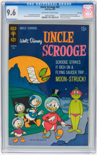 Uncle Scrooge #81 File Copy (Gold Key, 1969) CGC NM+ 9.6 Off-white to white pages