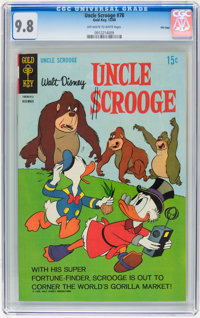 Uncle Scrooge #78 File Copy (Gold Key, 1968) CGC NM/MT 9.8 Off-white to white pages