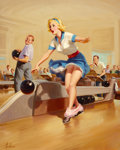 Pin-up and Glamour Art, ART FRAHM (American, 1906-1981). Spare, 1952. Oil on canvas.30 x 24 in.. Signed lower left. ...