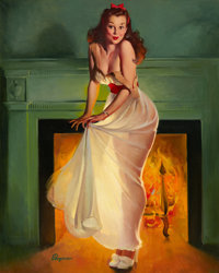 GIL ELVGREN (American, 1914-1980) Sheer Delight (This Soots Me), 1948 Oil on canvas 30 x 24 in
