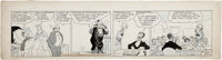 Chic Young Blondie Daily Comic Strip Original Art dated 1-23-31 (King Features Syndicate, 1931)