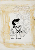 Original Comic Art:Covers, Warren Kremer Little Dot Dotland #60 Cover Original Art(Harvey, 1973). ...