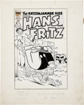 Original Comic Art:Covers, The Katzenjammer Kids #29 Cover Original Art (Harvey,1954)....