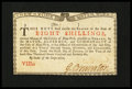 Colonial Notes:New York, New York January 6, 1776 (Water Works) 8s New....