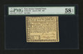 Colonial Notes:New Jersey, New Jersey June 9, 1780 $20 PMG Choice About Unc 58 EPQ....