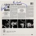Music Memorabilia:Autographs and Signed Items, Beatles Related - Paul McCartney and Ringo Starr Signed A HardDay's Night Album Cover....