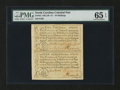 Colonial Notes:North Carolina, North Carolina December, 1771 £1 and 10s Vertical Pair PMG GemUncirculated 65 EPQ....