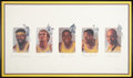 Basketball Collectibles:Others, Los Angeles Lakers Legends Multi-Signed Lithograph. ...