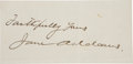 Movie/TV Memorabilia:Autographs and Signed Items, Jane Addams Autograph....