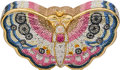 "Estate Jewelry:Purses, Austrian Crystal, Rose Quartz, Yellow Metal, ""Butterfly"" EveningBag, Judith Leiber. ..."