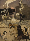 Mainstream Illustration, ARTHUR RACKHAM (British, 1867-1939). All Through Egypt Every ManBurns a Lamp, story illustration. Watercolor and ink on...