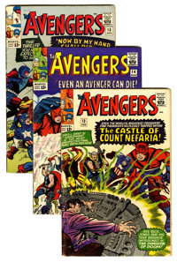 The Avengers #13-15 Group (Marvel, 1965) Condition: Average VG.... (Total: 3 Comic Books)