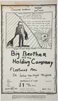 Music Memorabilia:Posters, Big Brother and the Holding Company/Fleetwood Mac Carousel BallroomConcert Poster (1968)....