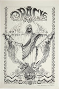 Music Memorabilia:Posters, The Oracle Promotional Poster (Berkeley Bonaparte, 1967)....