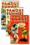 Golden Age (1938-1955):Miscellaneous, Famous Funnies Lost Valley pedigree Group (Eastern Color, 1945-46).... (Total: 6 Comic Books)