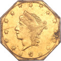 California Fractional Gold, 1863 25C Liberty Octagonal 25 Cents, BG-733, High R.7, MS62PCGS....