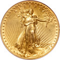 High Relief Double Eagles, 1907 $20 High Relief, Wire Rim--Reverse Repaired--NCS. AU Details....
