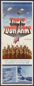 "Movie Posters:War, This is Your Army (20th Century Fox, 1954). Insert (14"" X 36"").War.. ..."