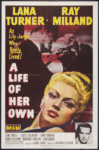 """A Life of Her Own (MGM, 1950). One Sheet (27"""" X 41""""). Drama"""