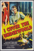 "Movie Posters:Crime, I Cover the Underworld (Republic, 1955). One Sheet (27"" X 41"") and Lobby Card Set (11"" X 14""). Crime.. ... (Total: 9 Items)"