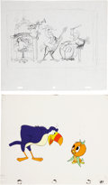 animation art:Production Drawing, The Orange Bird Animation Layout Original Art Group (Disney,1970s).... (Total: 48 Items)