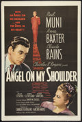 """Movie Posters:Fantasy, Angel on My Shoulder (United Artists, 1946). One Sheet (27"""" X 41"""") and Pressbook (Multiple Pages) (11"""" x 17""""). Fantasy.. ... (Total: 2 Items)"""