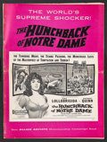 """Movie Posters:Horror, The Hunchback of Notre Dame (Allied Artists, 1957). Pressbook (Multiple Pages) (13.5"""" X 18""""). Horror.. ..."""
