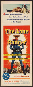"Movie Posters:Western, The Lone Ranger (Warner Brothers, 1956). Insert (14"" X 36""). Western.. ..."