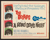 "A Hard Day's Night (United Artists, 1964). Half Sheet (22"" X 28""). Rock and Roll"