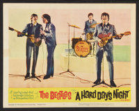 "A Hard Day's Night (United Artists, 1964). Lobby Card (11"" X 14""). Rock and Roll"