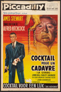 """Movie Posters:Hitchcock, Rope (MGM, R-1950s). Belgian (14"""" X 21""""). Hitchcock.. ..."""