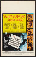 "Movie Posters:Mystery, The List of Adrian Messenger (Universal, 1963). Window Card (14"" X22""). Mystery.. ..."