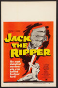 """Movie Posters:Mystery, Jack the Ripper (Paramount, 1960). Window Card (14"""" X 22"""").Mystery.. ..."""