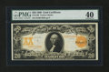 Large Size:Gold Certificates, Fr. 1186 $20 1906 Gold Certificate PMG Extremely Fine 40....