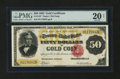 Large Size:Gold Certificates, Fr. 1197 $50 1882 Gold Certificate PMG Very Fine 20 Net....