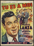 """Movie Posters:Musical, Because You're Mine (MGM, 1952). Belgian (14"""" X 19""""). Musical.Starring Mario Lanza, Doretta Morrow, James Whitmore, Dean Mi..."""