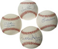 Autographs:Baseballs, Baltimore Orioles Hall of Famers Single Signed Baseballs Lot of 4.Four men who make up a large part of the legacy of the B...