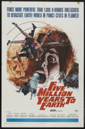 "Movie Posters:Science Fiction, Five Million Years to Earth (20th Century Fox, 1967). One Sheet(27"" X 41""). Science Fiction. Starring James Donald, Andrew ..."
