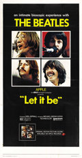 "Movie Posters:Rock and Roll, Let It Be (United Artists, 1970). Three Sheet (41"" X 81""). ..."