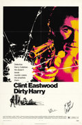 "Movie Posters:Crime, Dirty Harry (Warner Brothers, 1971). Autographed One Sheet (27"" X 41""). ..."