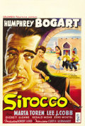 "Movie Posters:Drama, Sirocco (Columbia, 1951). Belgian (14.5"" X 21.5"")...."