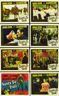 "Movie Posters:Drama, Santa Fe Trail (Warner Brothers, 1940). Lobby Card Set of 8 (11"" X14""). ... (Total: 8 Items)"