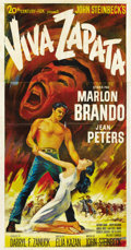 "Movie Posters:Drama, Viva Zapata (20th Century Fox, 1952). Three Sheet (41"" X 81""). ..."